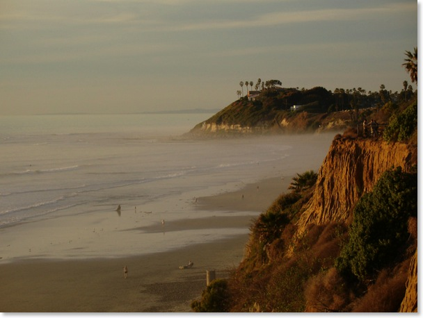 California Coastal Images Spectacular scenic view of Swamis, Encinitas, from Cardiff Campgrounds Kyle Thomas